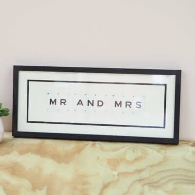 'Mr & Mrs' Frame - Vintage Playing Cards