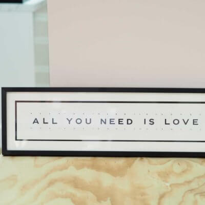 'All You Need Is Love' Frame - Vintage Playing Cards