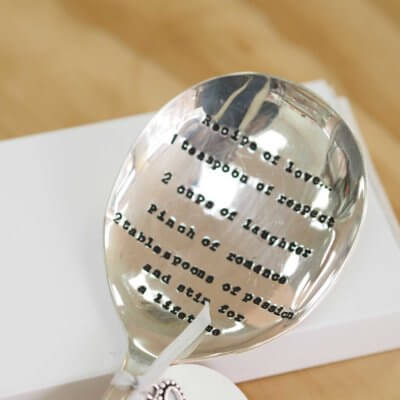 'Recipe of Love' Vintage Serving Spoon