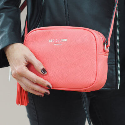 Cross Body Bag Tassel Bag - Coral