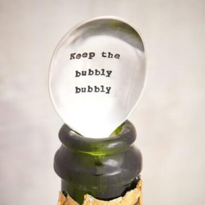 Keep the bubbly bubble vintage teaspoon