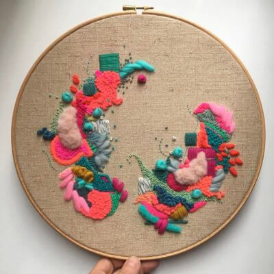 An introduction to abstract embroidery