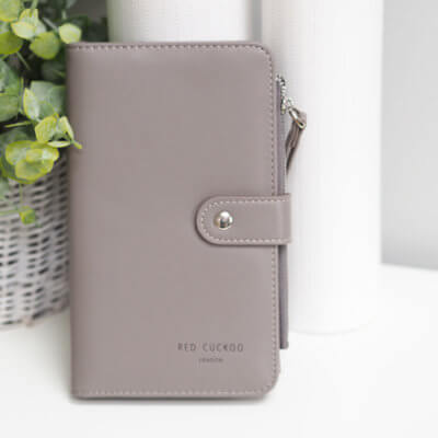 Grey Purse and Document Wallet
