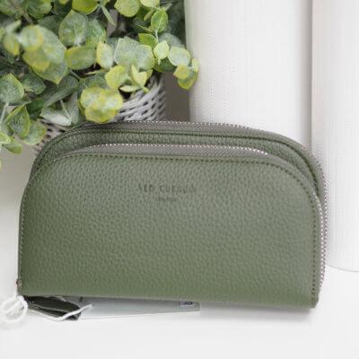 Khaki cross body purse