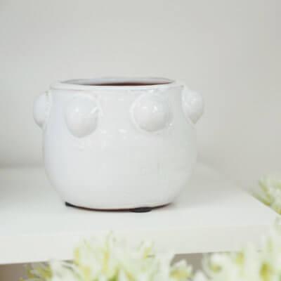 small white bobble pot