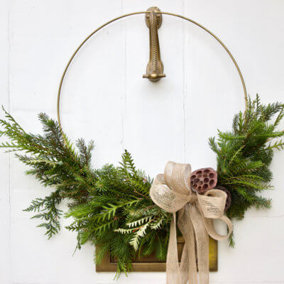 Asymmetric Christmas Wreath