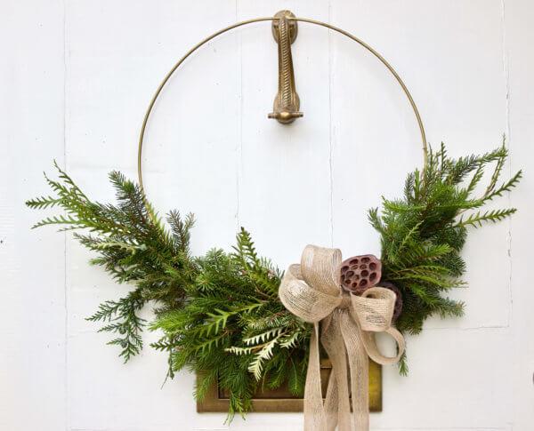 Asymmetric Christmas Wreath