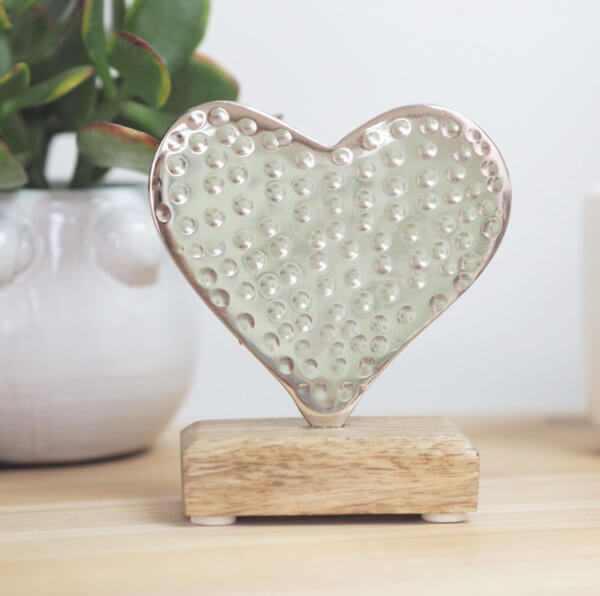 Hammered Metal Heart