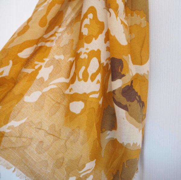 Mustard Leopard Pattern Scarf