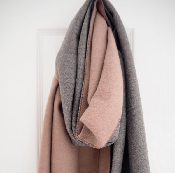 Pink & Grey Two Tone Scarf