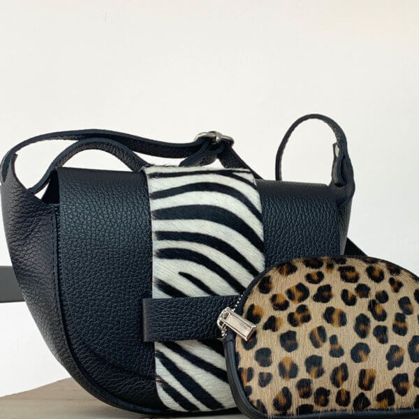Zebra Print Leather Bag