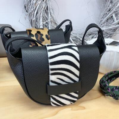 Zebra Print Leather Bag