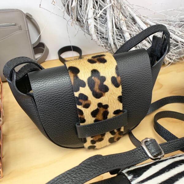 Leopard Print Leather Bag