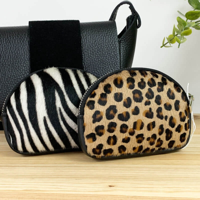 Animal Print Leather Coin Purse