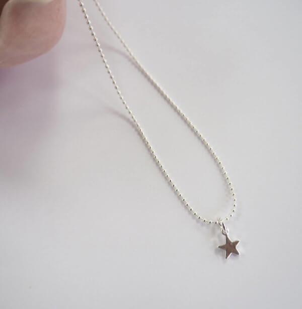 Mini Silver Star Necklace