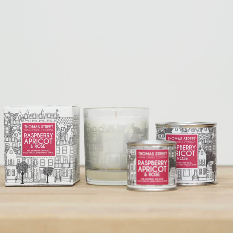 Raspberry Apricot & Rose Candle