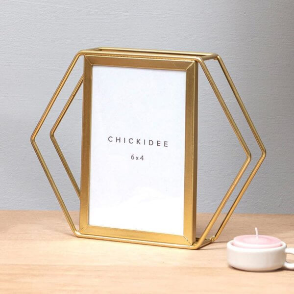 Gold Hexagonal Picture Frame