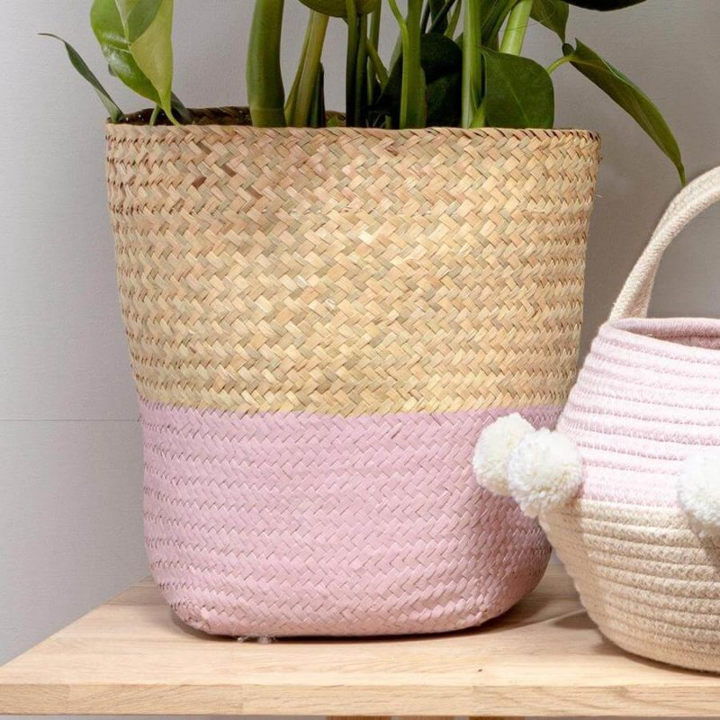 Pink Seagrass Basket