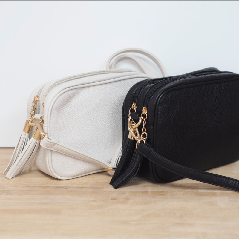 Double Zip Cross Body Bag -