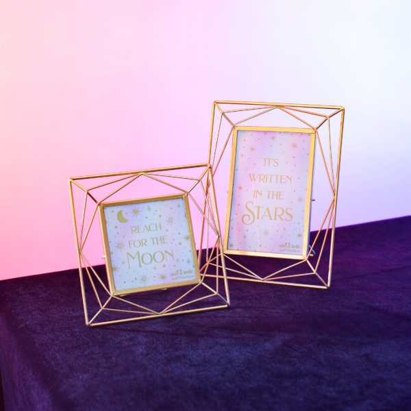 TRAPEZE GOLD SQUARE PHOTO FRAME