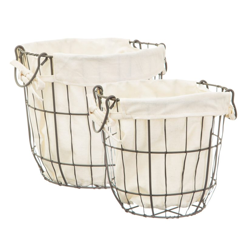 Round Wire Storage Baskets