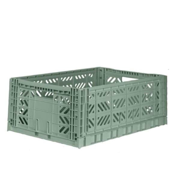 Aykassa Folding Crate Almomd Green