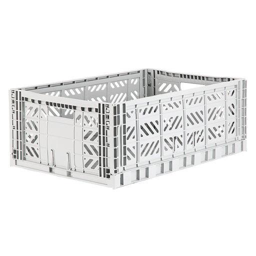 AyKassa Folding Crate Light Grey