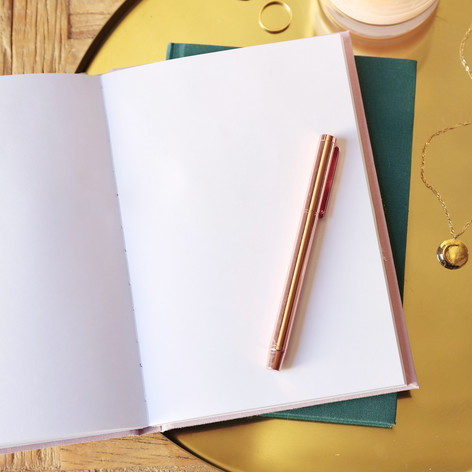 Two Way 'Morning and Night' Notebook in Pink