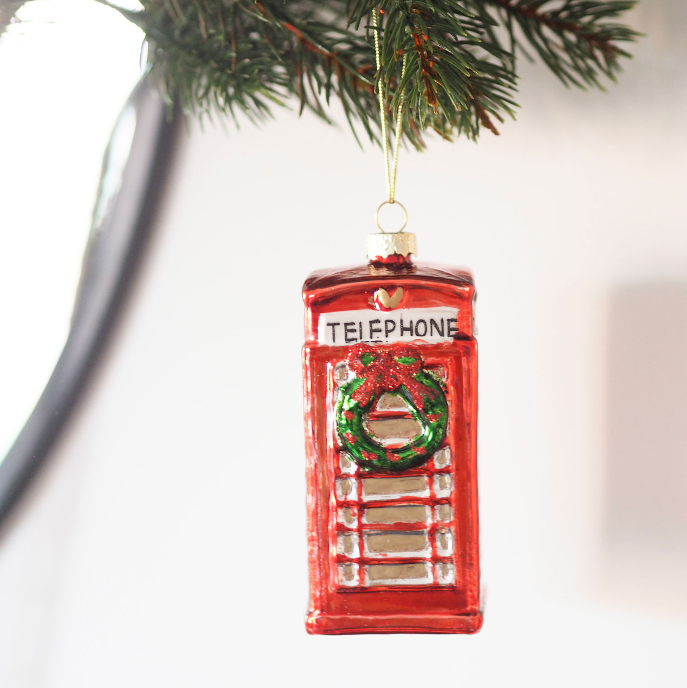 Red Letter Box Bauble