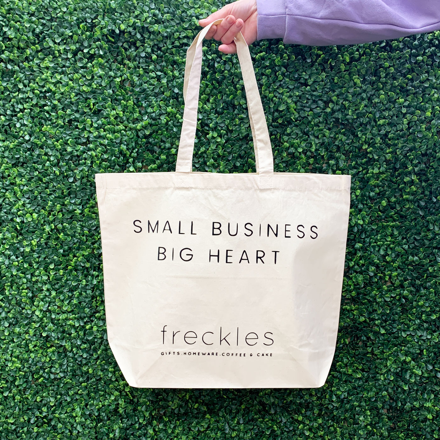 Small Business Big Heart Tote Bag