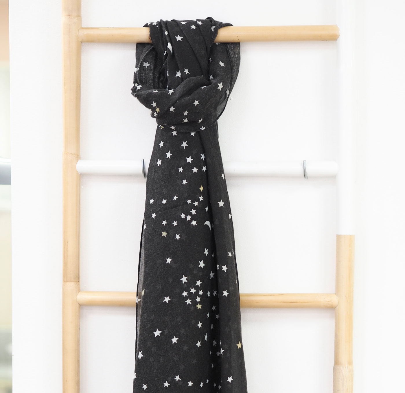 Charcoal Star Scarf