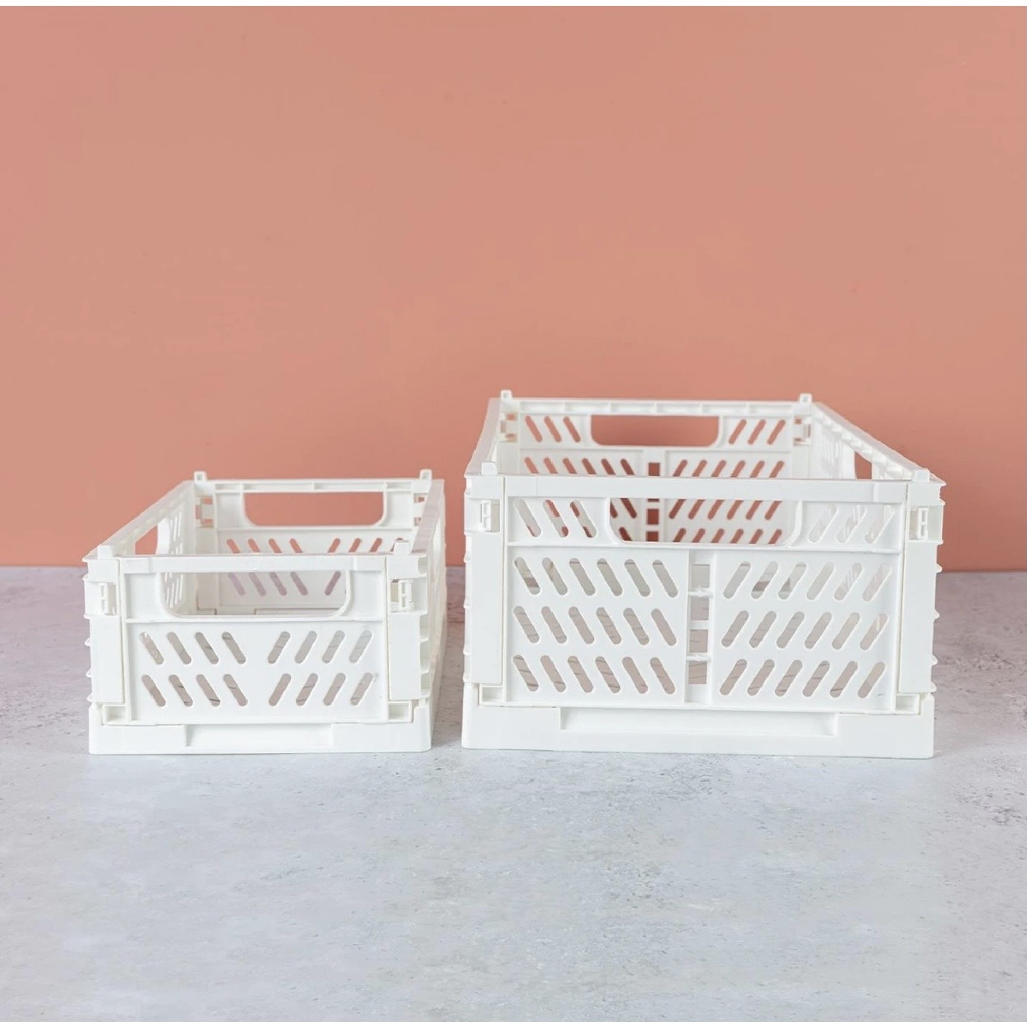 White Folding Crate