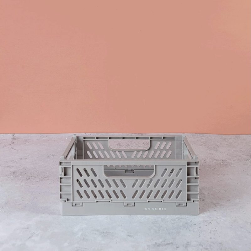 Grey Folding Storage Crate