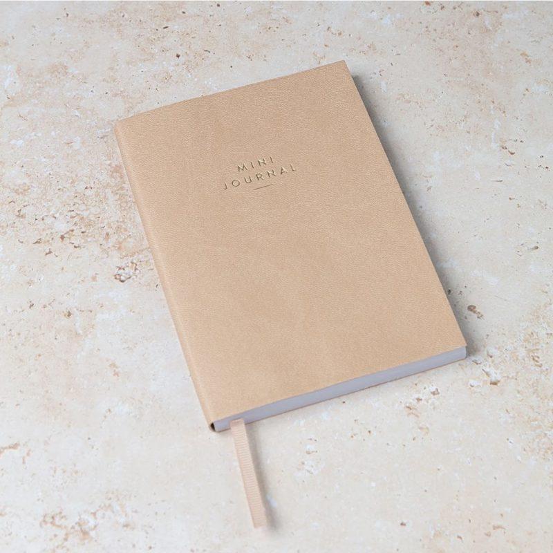 A6 Tan Mini Journal