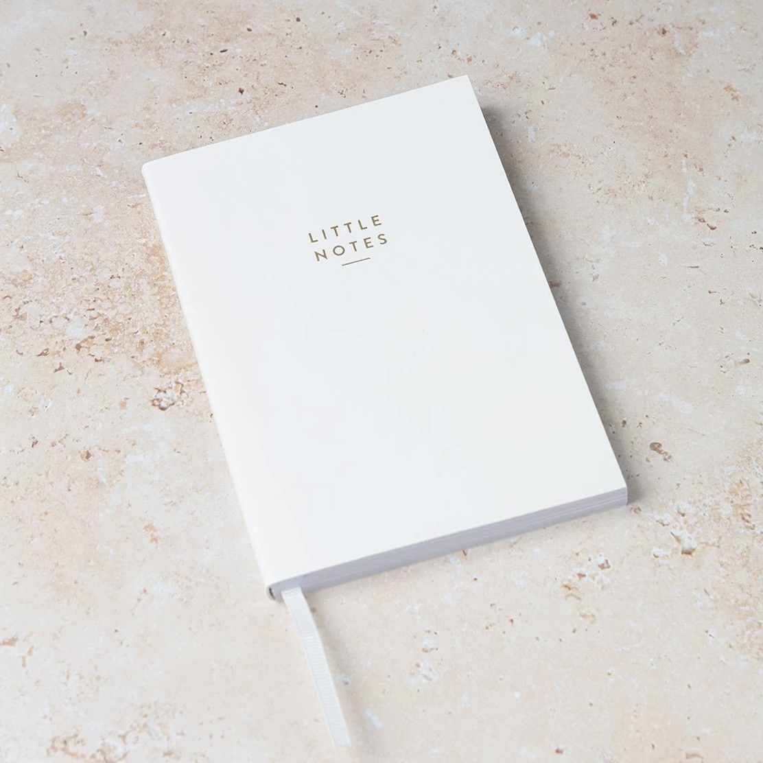 A6 White 'Little Notes' Notebook