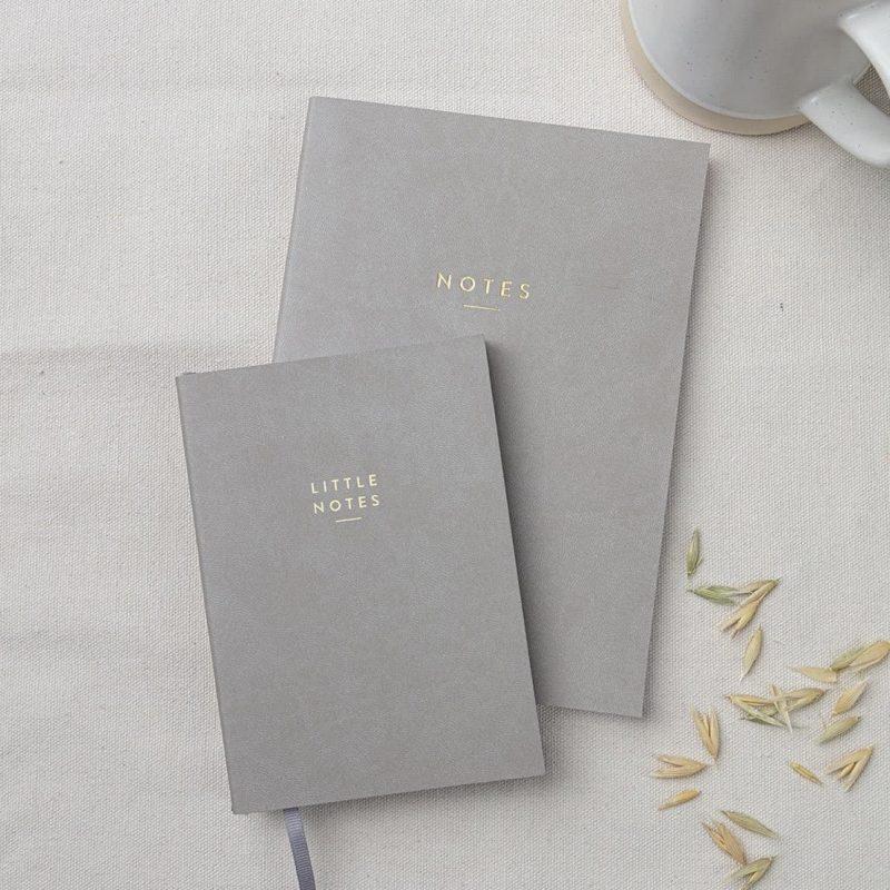 A5 Grey 'Notes' Notebook