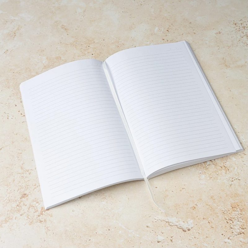 A5 White Notes Notebook