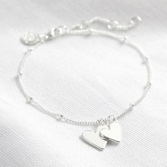 Falling Hearts Bracelet - Silver