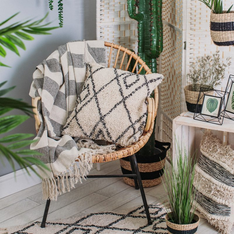 Scandi Striped Blanket