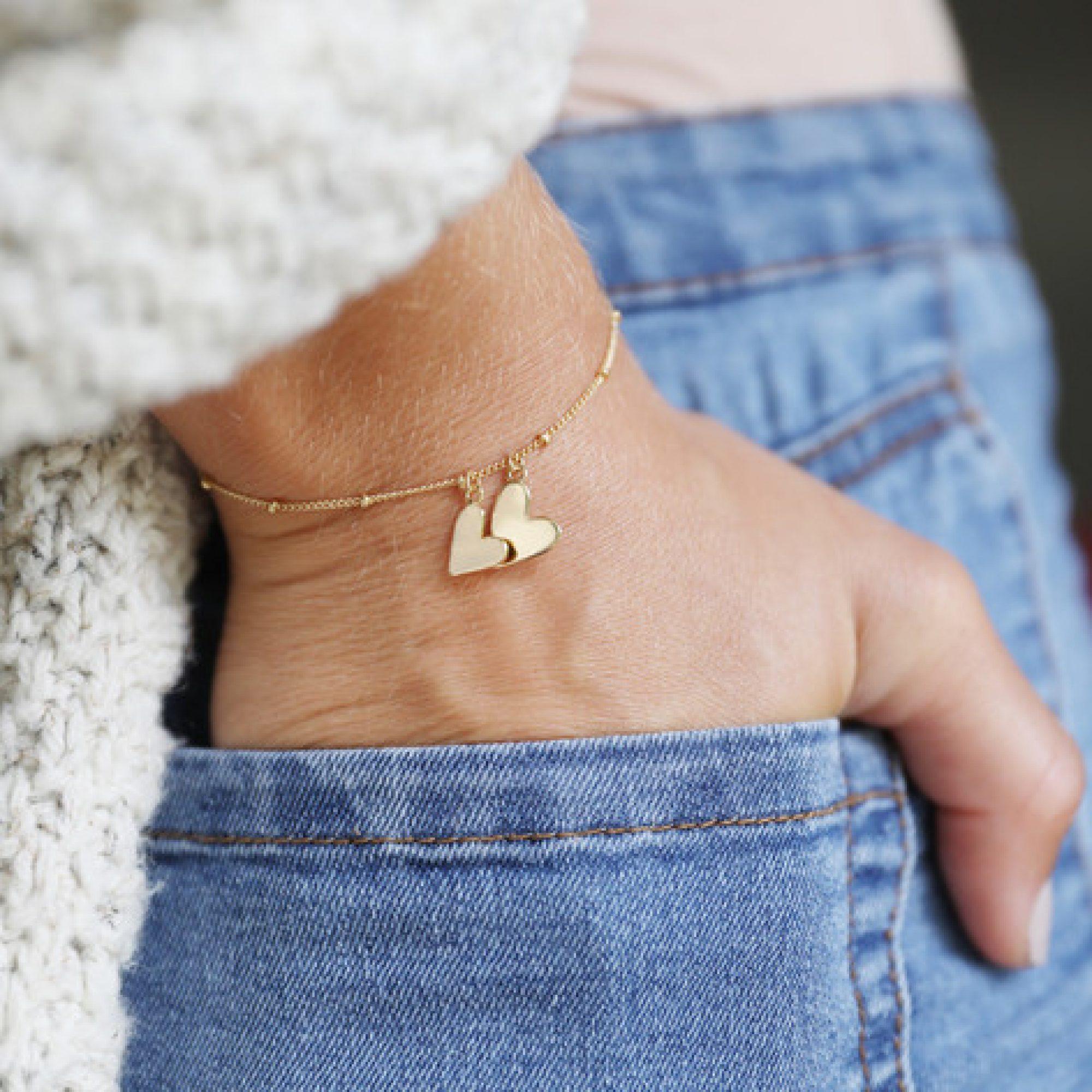 Falling Heart Charms Bracelet