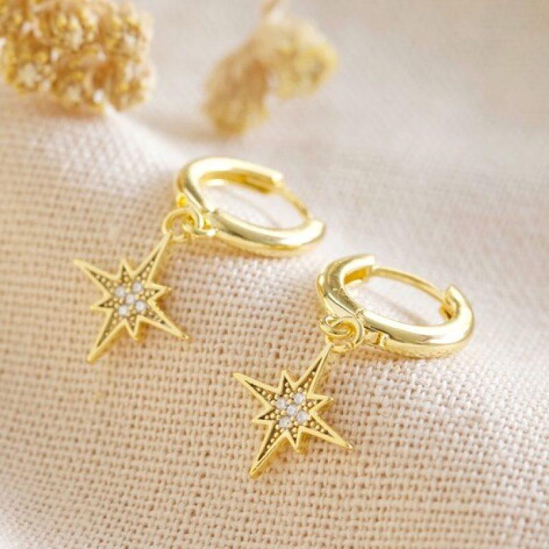 Shooting Star Huggie Earrings