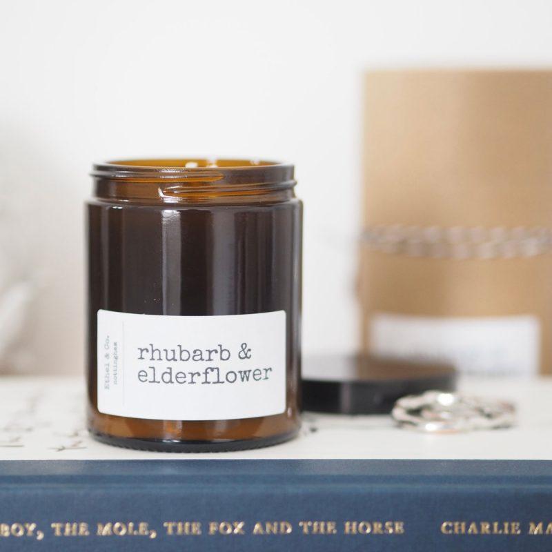 Rhubarb & Elderflower Candle