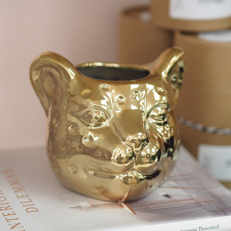 Gold Leopard Candle