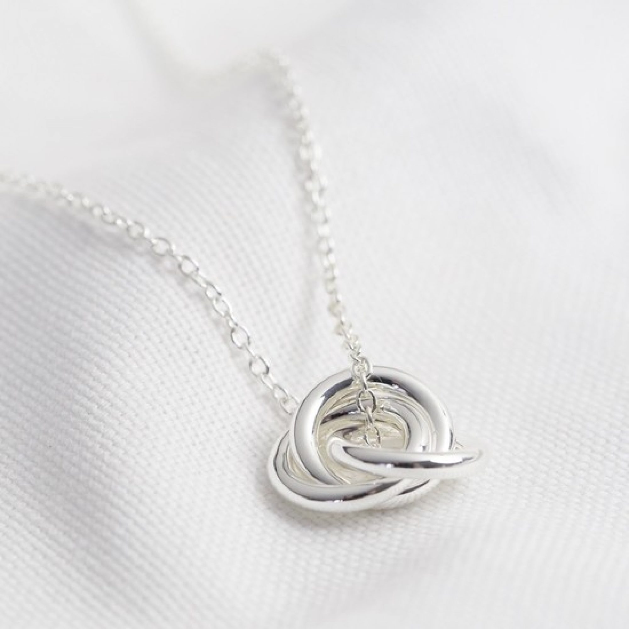 3 Ring Silver Necklace