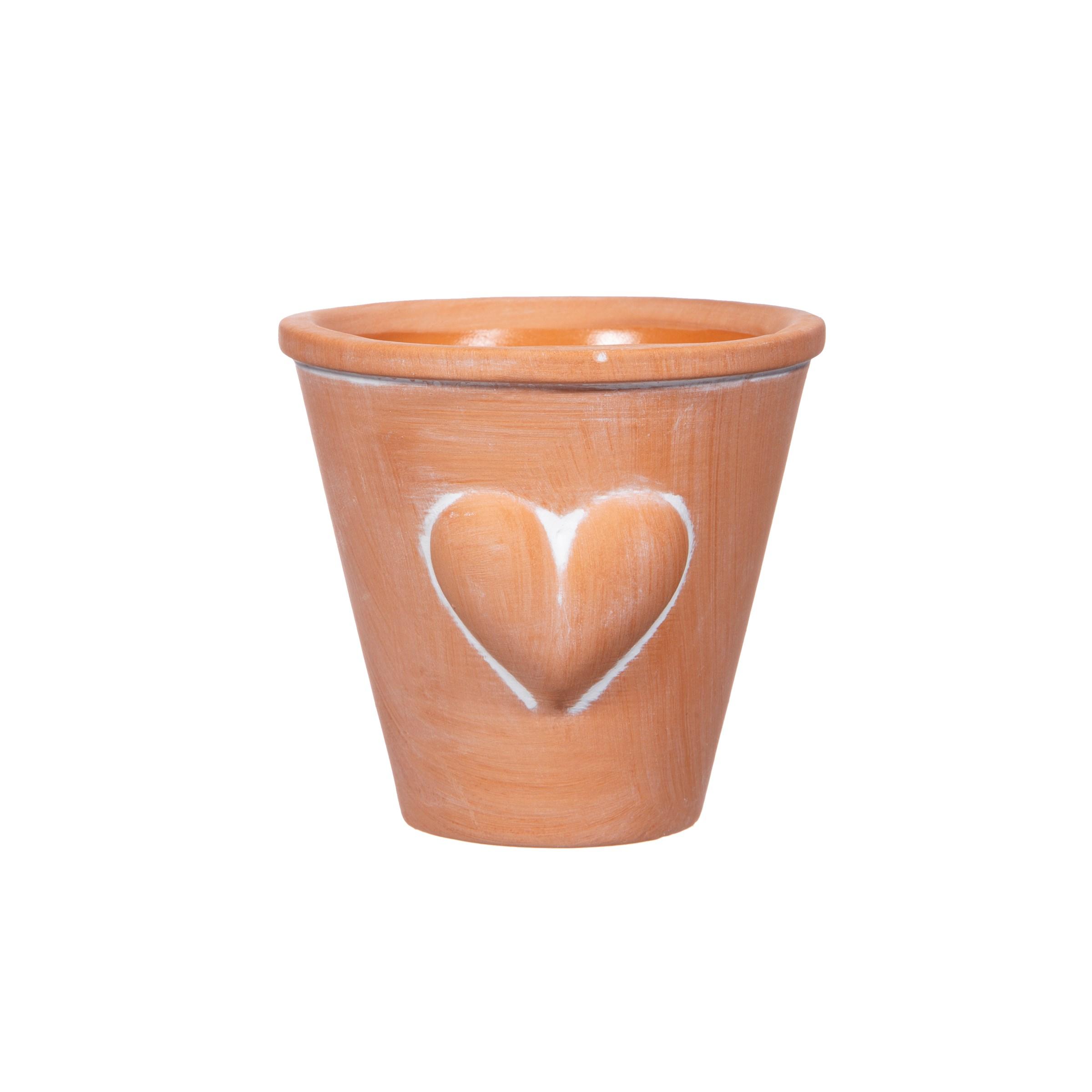 Mini Terracotta Heart Planter